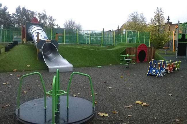 Range of playground equipment to choose from