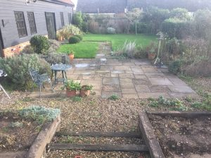 Great Saxham Patio Before
