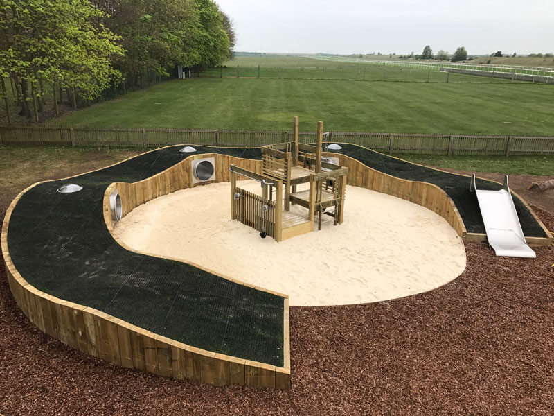 Newmarket Race Course Play Area Finished