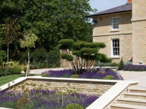 landscaping at stoke gap house